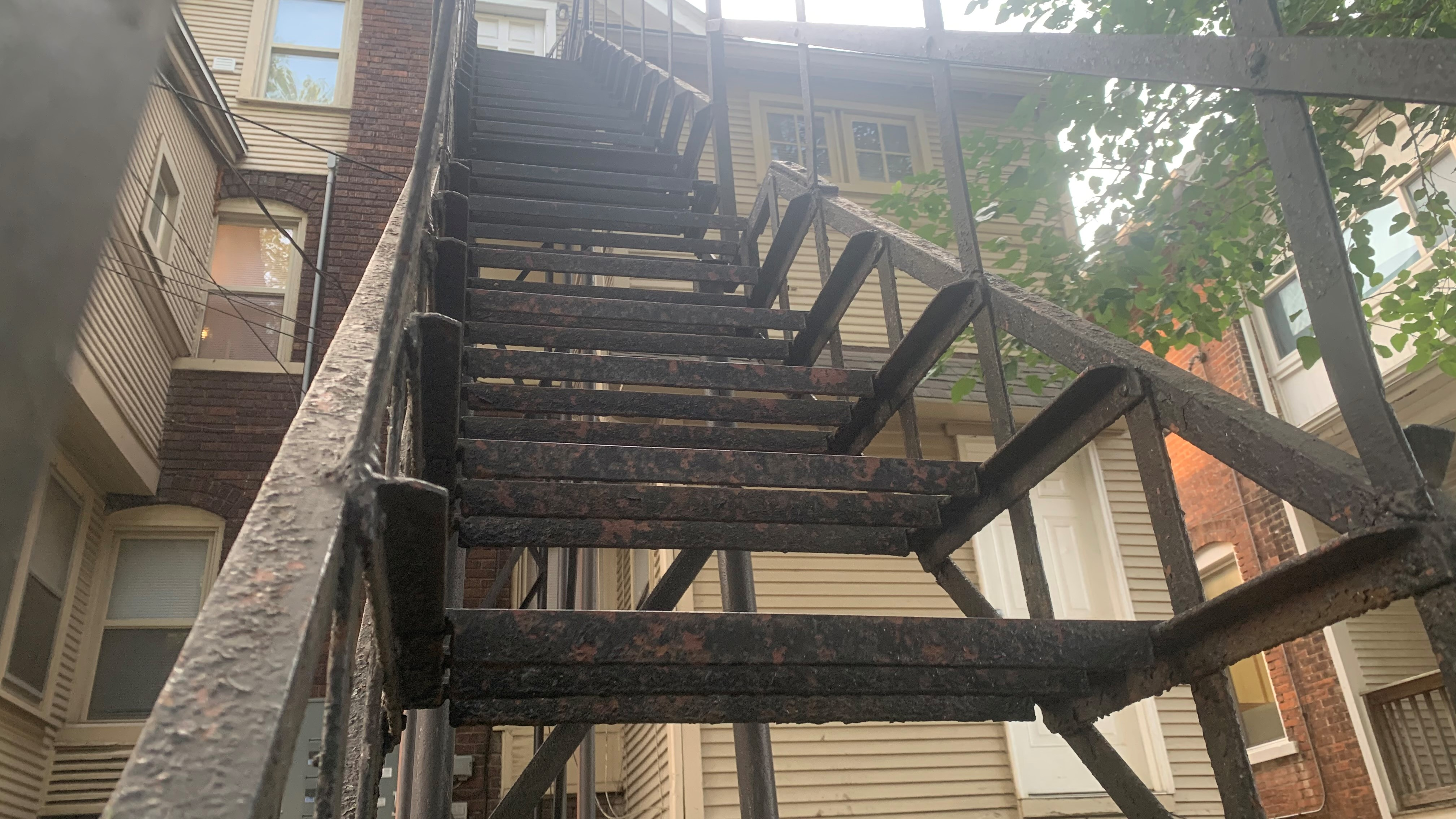 Metal outdoor staircase