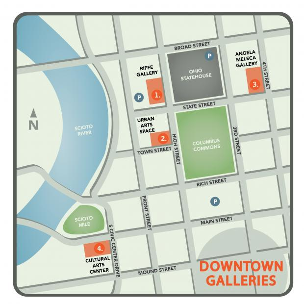 downtown galleries map