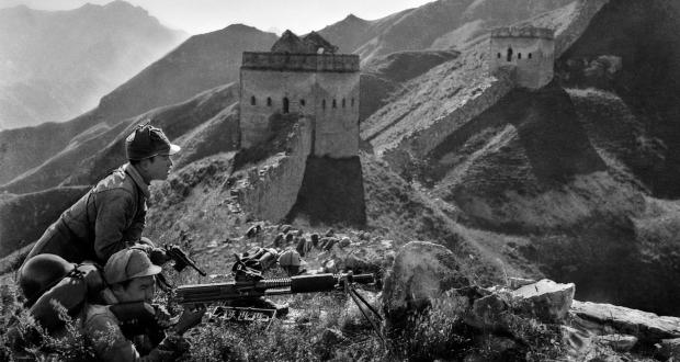 The Eighth Route Army Fighting on the Ancient Great Wall , 1938