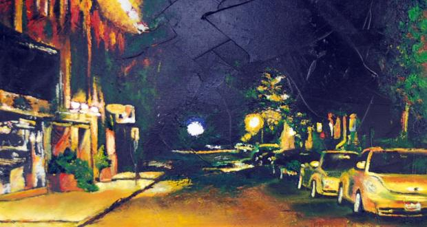 2009 Best in Show: Alley, oil with palette knife on canvas, Polly Isurin