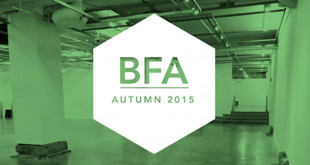Autumn 2015 BFA Senior Projects Exhibition