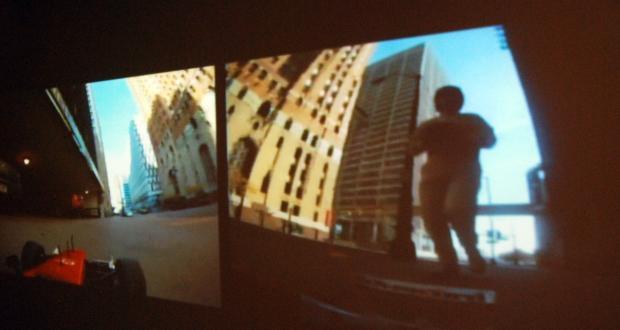 """Tyler Joswick: """"Race Columbus,"""" screen shot, digital video, 2011"""