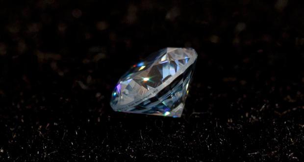 """Image of Shane Mecklenburger: """"Gunpowder Diamond,"""" diamond made from gunpowder, 2012"""