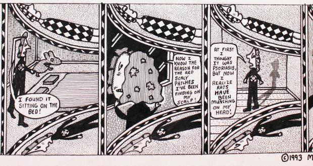 "Mark Beyer: ""Amy and Jordan comic strip"" (detail), 1993"