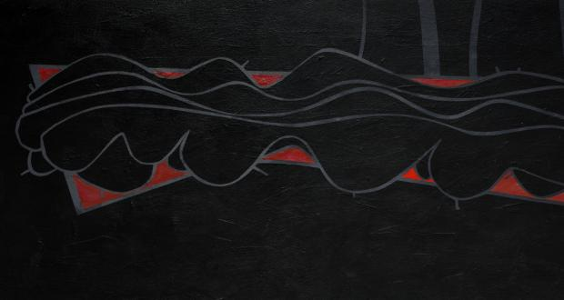 E.F. Hebner, Phase, 2005, acrylic on masonite, 20 x 48