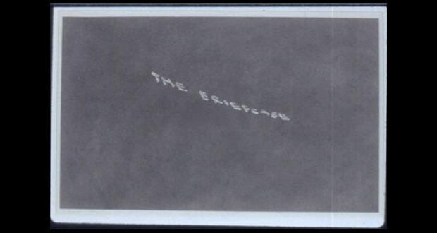 Ed Ruscha, The Briefcase, 1973, gunpowder on paper, 13 x 21 1/2 inches (33 x 54.6 cm) The Museum of contemporary Art, Los Angeles, partial and promised gift of Blake Byrne. Image Copy-write Ed Ruscha.