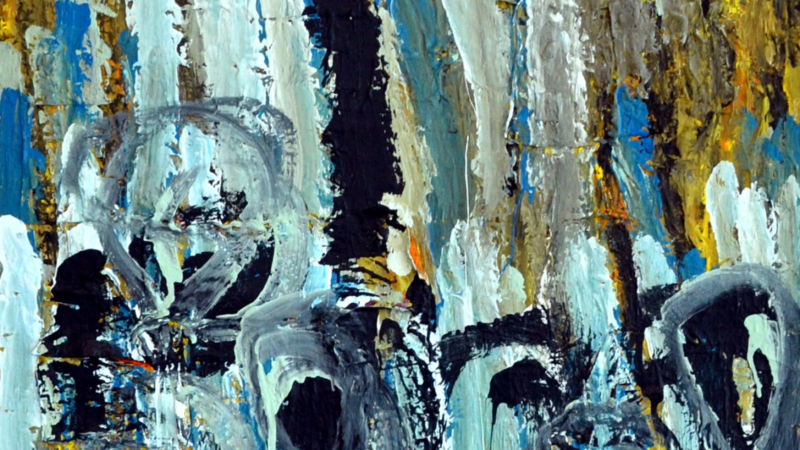 "Larry Ross: ""Waterfall Abstraction,"" acrylic. Image from Open Door Art Studio"