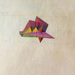 "Robert Stull's ""Study for shaped painting"""