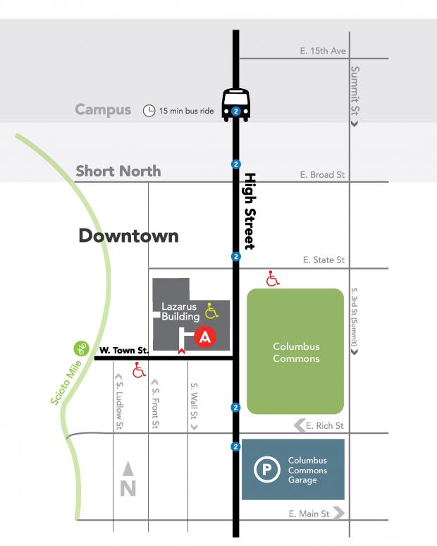 Directions to Urban Arts Space Map