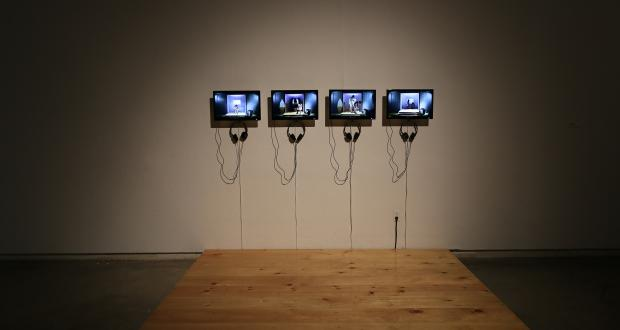 Kyle Downs, Wild Mustangs, 4 channel Video Installation, continuos loop, 2014
