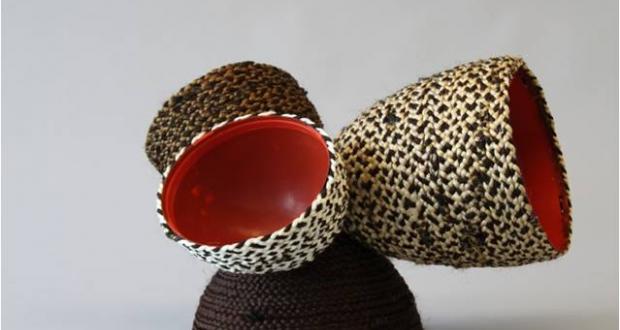 Mumushu Sitot, Ethiopian basket, human hair, plastic, 2013