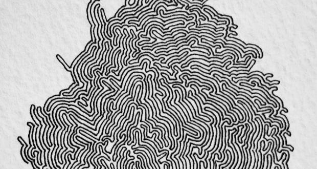 Alex Ross, Glob, micron pens, ink