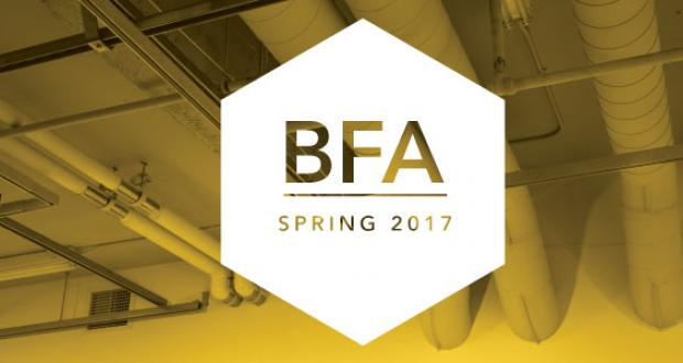 Department of Art BFA Spring Projects Exhibition banner
