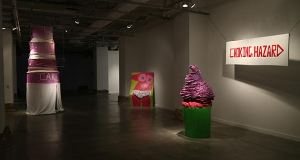 Gallery shot of work by Tala Catrene Kanani