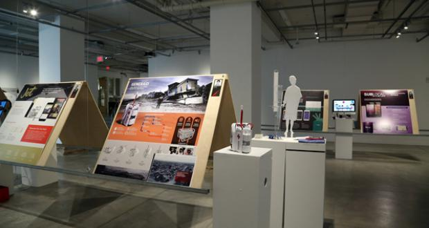 gallery view of design exhibition