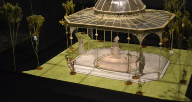 "Tony Straiges: ""Glass Pergola,"" Design Model for The Importance of Being Earnest, Arena Theatre, Washington, DC. Director: Richard Russell Ramos, Tony Straiges Design Collection, Theatre Research Institute, 1983"