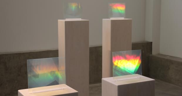 "Image of Jessica Mallios: ""Untitled,"" glass hologram, 2013"