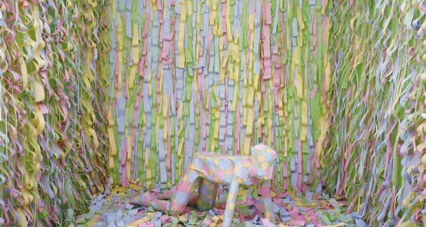 "Image of Gina Osterloh: ""Dots Front Misfire,"" Lambda Photograph, 2008"