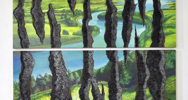 Robert E. Peppers: Scenic View: A Stripscape (above and under), 2011