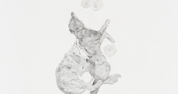 "Danielle Johns: ""You Are My Home,"" graphite, 2014"