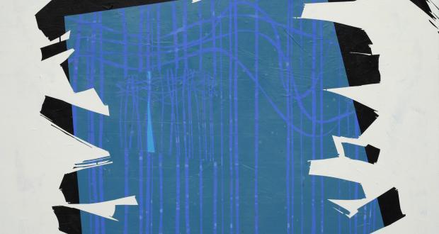 E.F. Hebner, Unhidden, 2002, acrylic on masonite, 48 x 48