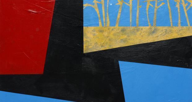 E.F. Hebner, Unless, 2000, acrylic on masonite, 32 x 32