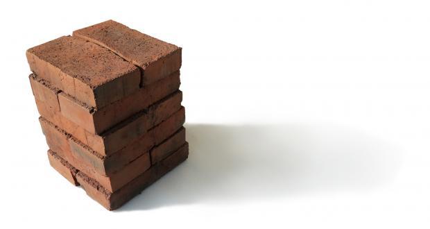 Image of Wang Yuyang: Breath - A group of waste bricks. installation, 2011